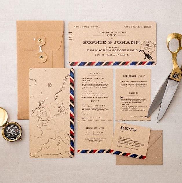 Un mariage autour du monde – Wedding-paper goods