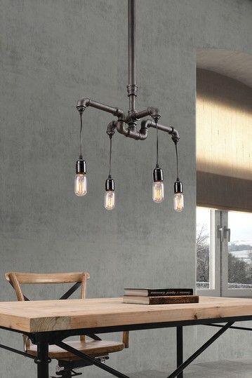 Sofiite Gray Ceiling Lamp