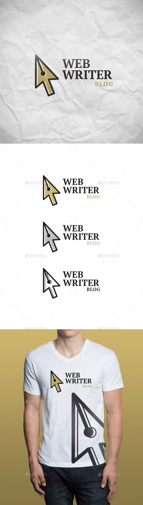 Web Writer  - Logo Design Template Vector #logotype Download it here: http://graphicriver.net/item/web-writer-logo-template/9287001?s_rank=968?ref=nesto