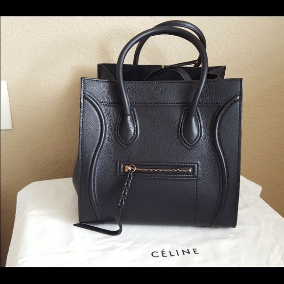 celine luggage bag small - celine ecru leather handbag trapeze