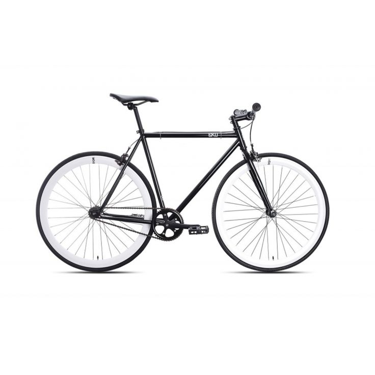 Golden Cycles Fixed Gear Bike Steel Frame Fixie with Deep V Rims-Collection  (V White,