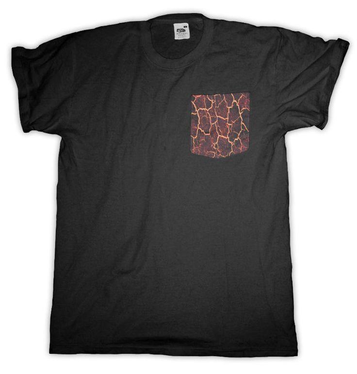 Lava Pocket T Shirt Black Men S - 2XL  #HailFridayCompagnie #PremiumTees