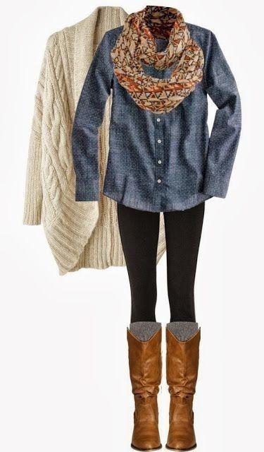22. #denim et confort - 33 #tenues magnifiques qui #inspireront votre #garde-robe d'hiver... → #Fashion