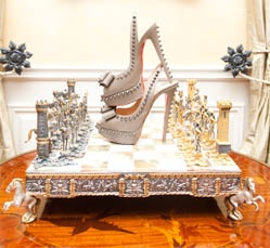 Check and mate.  http://thecoveteur.com/Adrienne_Maloof#: Fabulous Shoes, Chess Boards, Adrienne Maloof, Glam Heels, Chess Sets, High Heels, Christian Louboutin, Louboutin Shoes, Louboutin Glam