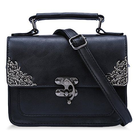 Vintage style ornate  black bag