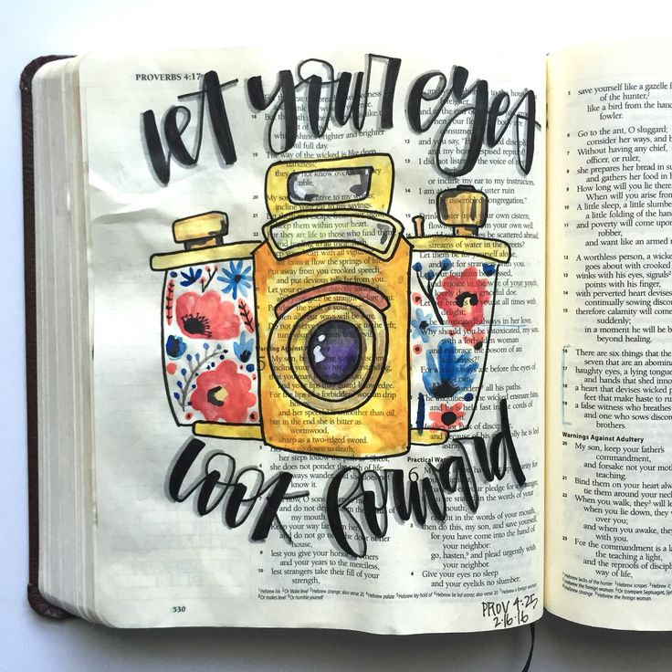 Bible journaling by @courtkassner on Instagram