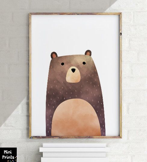 SALE PDF Woodland Nursery, Bear Print, Bear Art, woodland bear,  Printable Art, Animal Print, Animal Art Print, watercolor bear,woodland Art par ArtPrintsFactory sur Etsy https://www.etsy.com/ca-fr/listing/491060121/sale-pdf-woodland-nursery-bear-print
