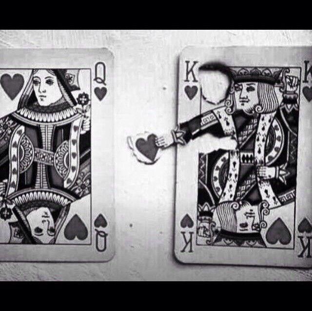 king & queen of hearts.