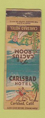 Matchbook-Cover-Carlsbad-Hotel-CA-Cactus-Room-girlie-WEAR