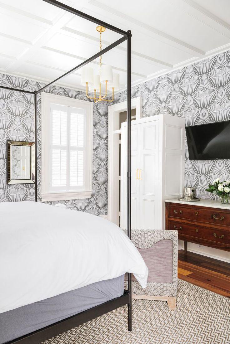 Guest room wall paper ideas! B Berry Interiors  Interior design