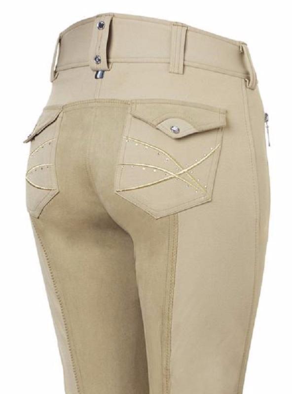 Pantalon FEMME en Lycra et Fond de Peau GLORIA, MOUNTAIN HORSE