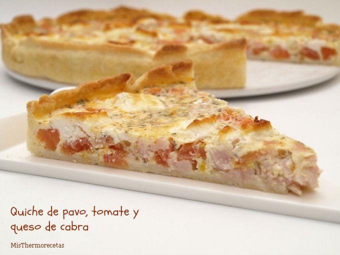 Quiche pavo, tomate y queso de cabra - MisThermorecetas