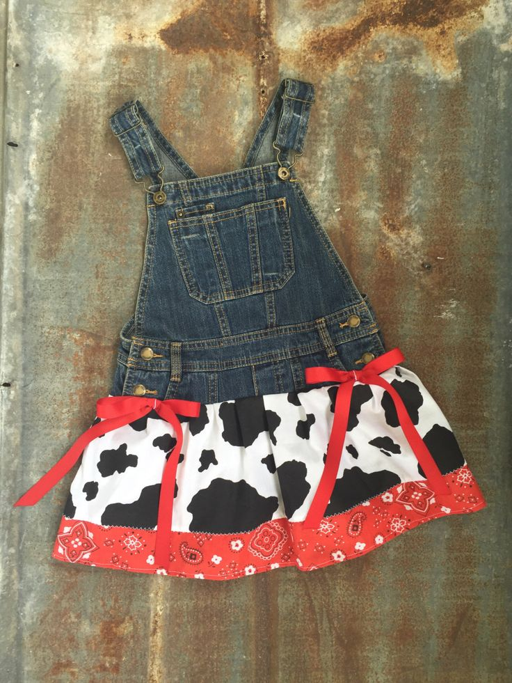 Old McDonald Dress, Farm birthday party, Farmer outfit, cow dress, cow birthday, farm dress, old mcdonald party, overall tutu, overall dress by JustFrayinAround on Etsy https://www.etsy.com/listing/387307864/old-mcdonald-dress-farm-birthday-party