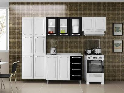 Cozinha Compacta Itatiaia Criativa com Balcão - 13 Portas 4 Gavetas Aço com as melhores condições você encontra no Magazine Igorrabelo. Confira!