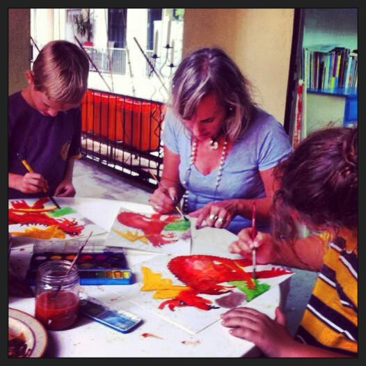 Fun at art class in my studio: http://www.martinanagnostou.com/?page_id=50