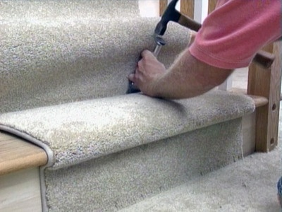 installing carpet runner on stairs