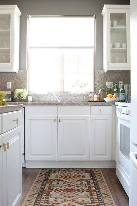 ... White Kitchen Cabinets U0026 Kitchen Island With Zodiac Quartz Kitchen  Countertops And Backsplash And Pottery Barn Museum Craft Collection    Shelburne ...