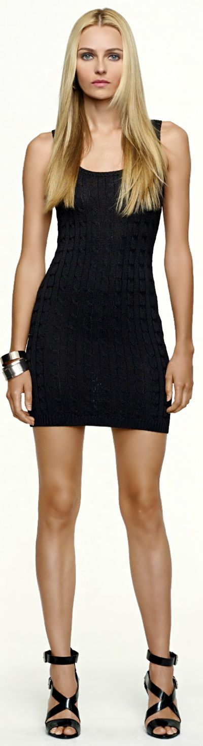 Every blonde should have at least one little black dress (LBD).