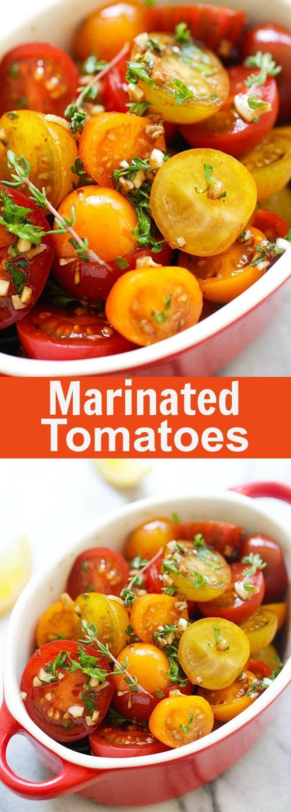 Marinated Tomatoes Marinated Tomatoes – healthy tomatoes marinated with olive oil, balsamic vinegar and herbs | rasamalaysia.com