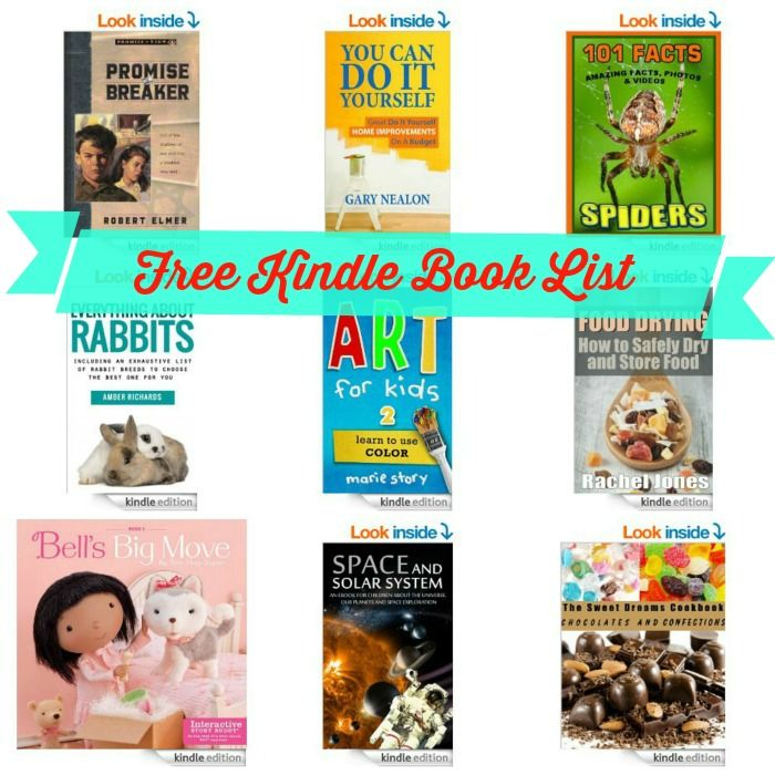 Free Kindle Book List: Art For Kids, Recipes in a Jar, Great Do It Yourself Home Improvements On A Budget, + More!