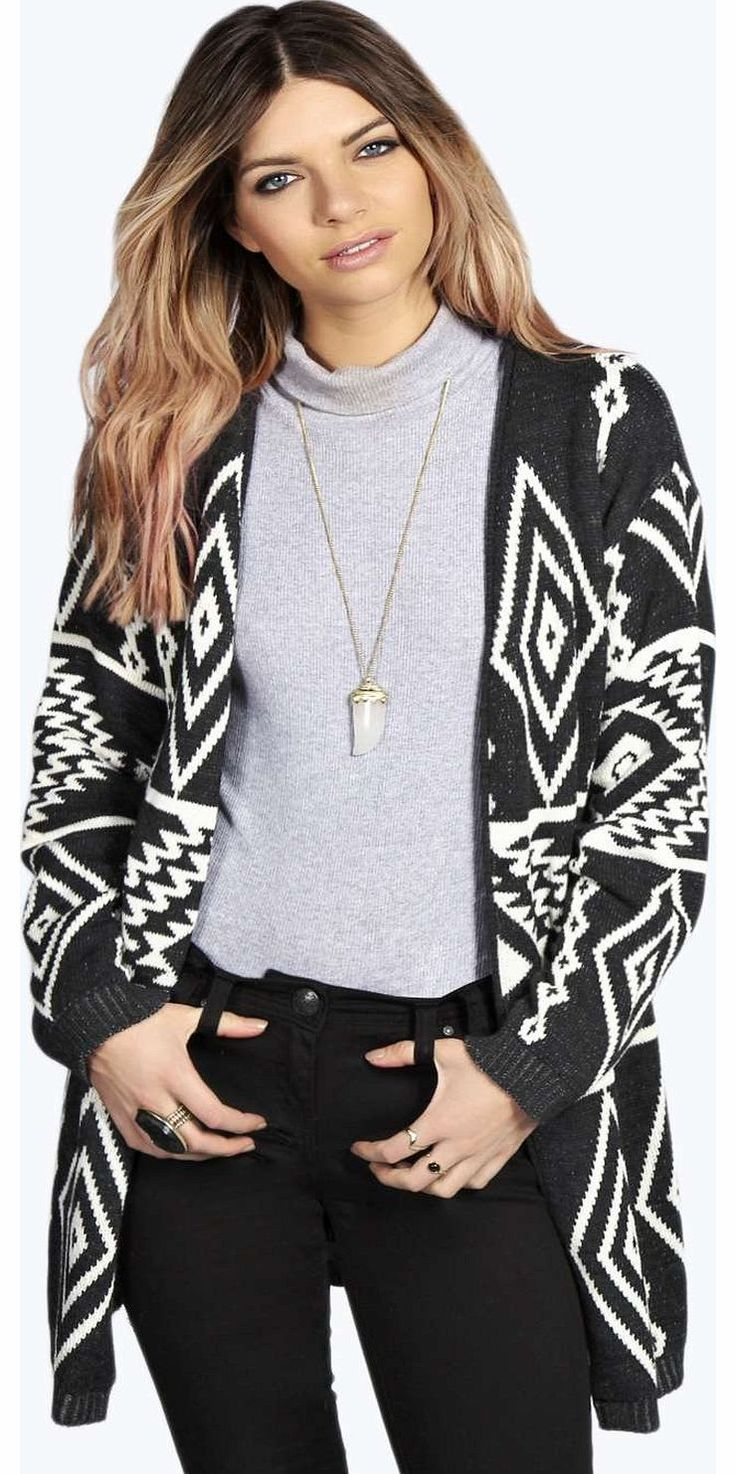 boohoo Faye Aztec Print Cardigan - charcoal azz14785 Go back to nature with your knits this season and add animal motifs to your must-haves. When youre not wrapping up in woodland warmers, nod to chunky Nordic knits and polo neck jumpers in peppered mar http://www.comparestoreprices.co.uk/womens-clothes/boohoo-faye-aztec-print-cardigan--charcoal-azz14785.asp