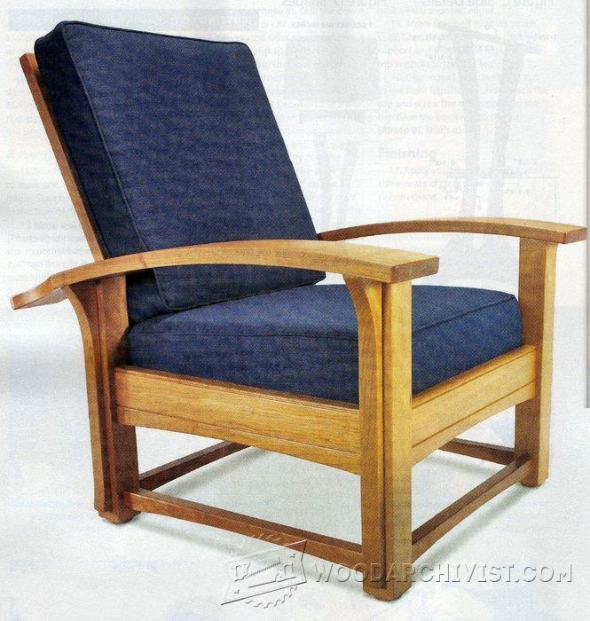 Morris Chair and Ottoman - Furniture Plans and Projects | WoodArchivist.com