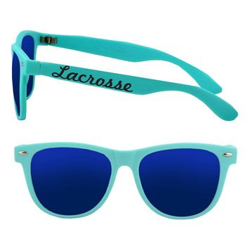 Our lacrosse Neon-style sunglasses are made from high-quality rubberized matte plastic.  A pair of lacrosse sunglasses make a cool gift for ...