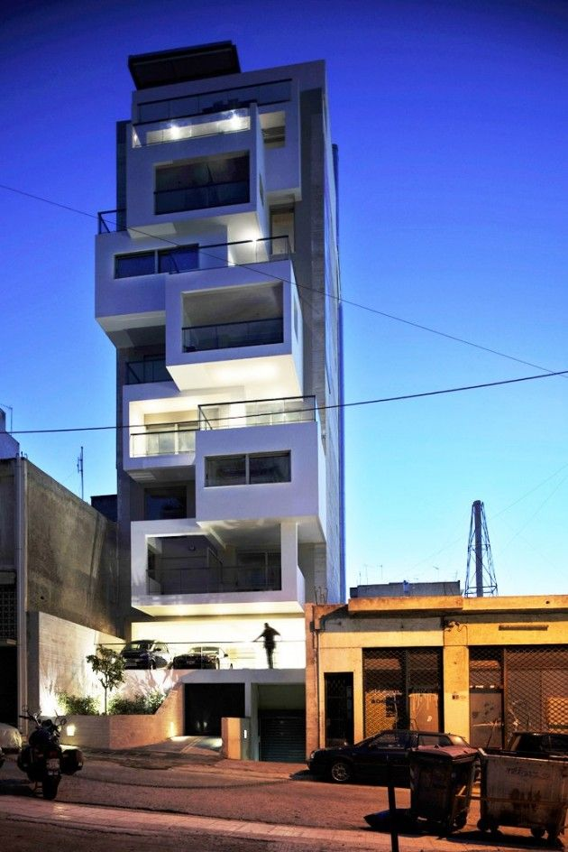 KLab Architecture have designed the Urban Cubes building in Athens, Greece.