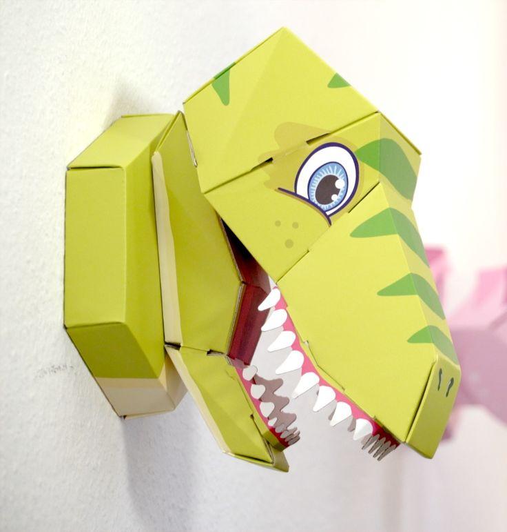 Dino und Einhorn Schultüte - nach der Einschulung kann man die Trophäe als Wanddekoration aufhängen.