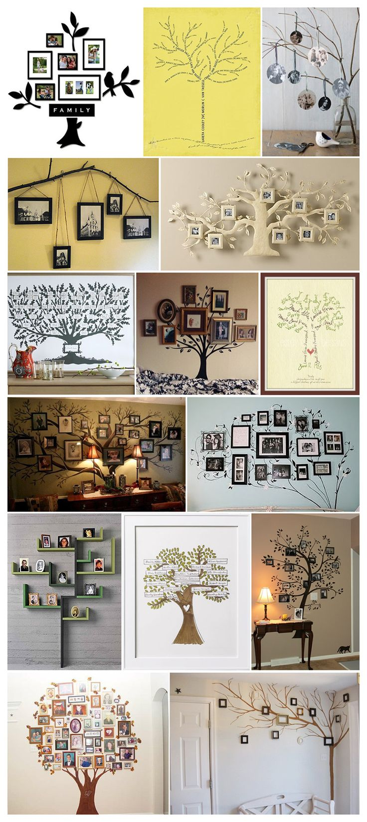 *This is awesome! I've been trying to figure oyt the best way to make one for awhile now! Family Trees Display Inspiration ~ Memories on Display #DisplayGallery #PhotoWall #FamilyTrees