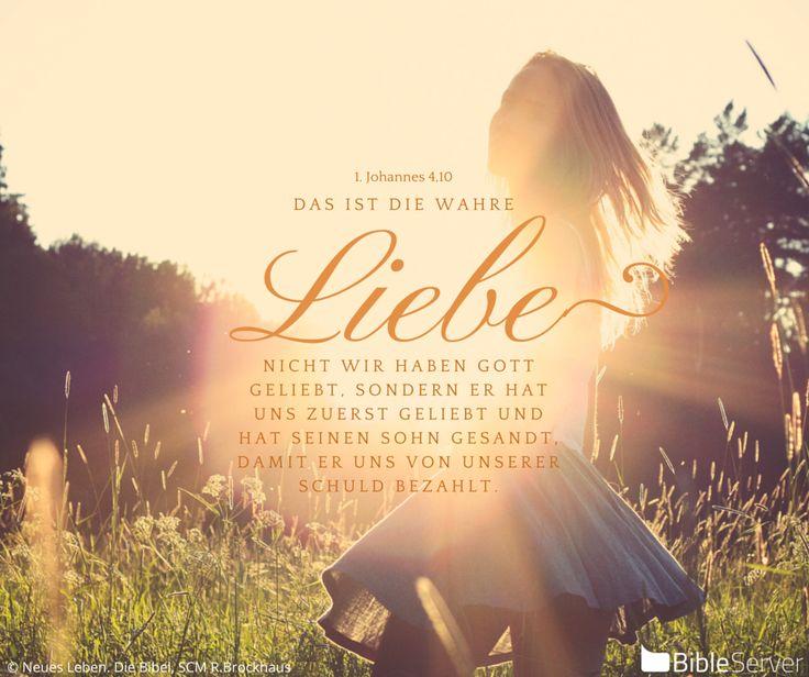 Das ist wahre Liebe! | Den Spruch kannst du nachlesen auf #BibleServer. Er steht in 1. Johannes 4,10.