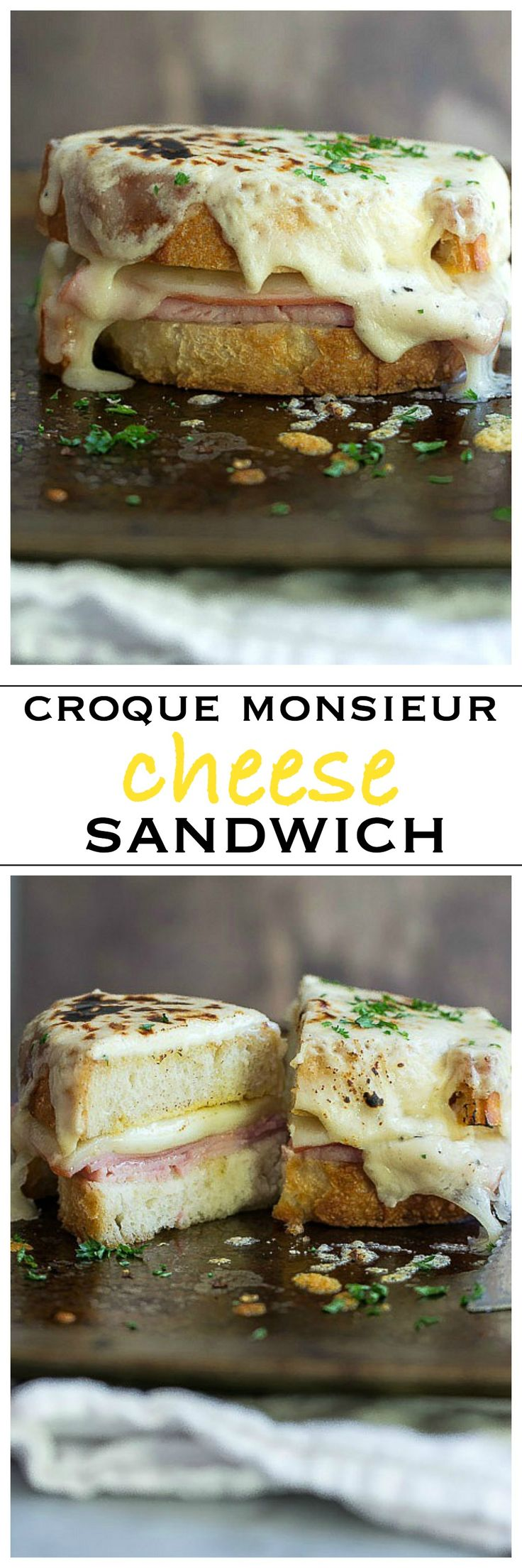 The Ultimate Croque Monsieur Grilled Cheese Sandwich | Foodness Gracious