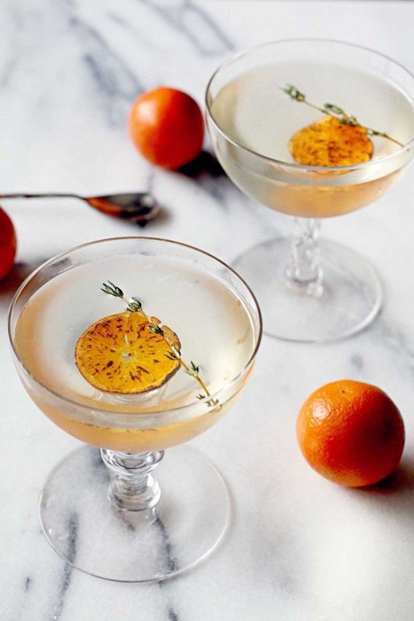 Thirsty Thursday: Charred Mandarin Martini