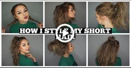 How I Style My Short Hair | Long Bob #hair #reallyShorthair