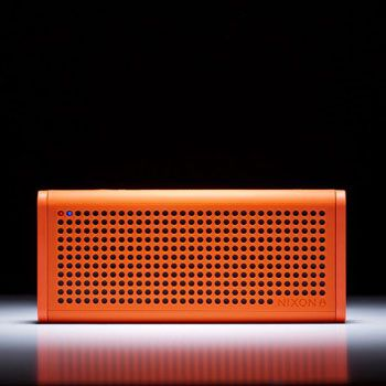 Nixon Blaster Bluetooth Speaker - A rubberized portable speaker that brings the noise of your music because of its excellent audio quality. | To get more updates on Portable Bluetooth and Wireless Speakers, follow Best Buy Portable Speakers (https://www.pinterest.com/bestbuyspeakers/)