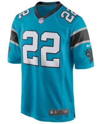 Nike Men's Christian McCaffrey Carolina Panthers Game Jersey - Blue XXL