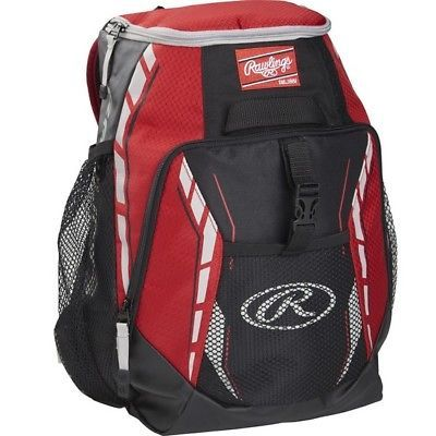 Equipment Bags 50807 Rawlings R400 S Scarlet Players Baseball Bat Bag Backpack It Now Only 30 91 On Ebay