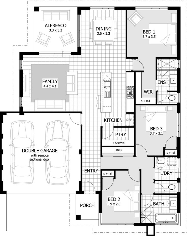 3 Bedroom Modern House Design 30 Best Contempo Floorplans Images On Pinterest  Floor Plans