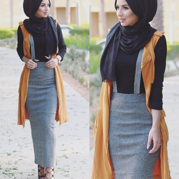 "Soha M.T Semenov auf Instagram: ""Bodycon skirts love. I got this skirt from a local unknown store where they sell Korean fashion, and the vest is from @zara now in stores #hijabfashion"""