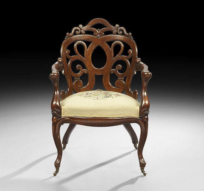 antique dining chairs nyc. c1860 six rococo dining chairs, laminated oak, jh belter, nyc, scroll, antique chairs nyc