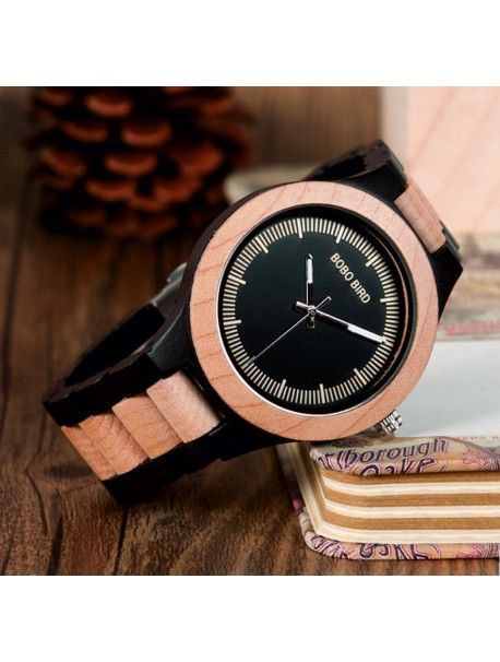 Stylish wristwatch from wood - ASTOR Reference:  DH000016 -PINEWOOD -Wristwatch  Condition:  New product  Availability:  In Stock  Elegant wooden clock with a unique design. Gift fit for a man and a woman. Watches are made of natural materials, no artificial colors.