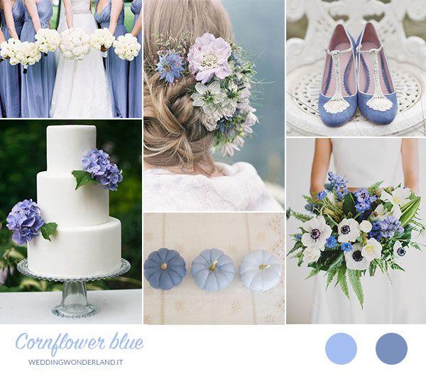 cornflower blue wedding inspiration http://weddingwonderland.it/2015/10/matrimonio-azzurro-fiordaliso.html