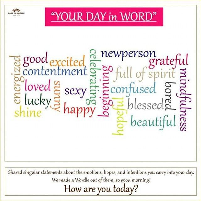 Warmest greetings from Bali Paragon Resort Hotel... Good Morning.. let's share your day in word... #greetings #goodmorning #share #moments #instagramers #instalike #instadaily #instamood #bali #baliparagon #jimbaran