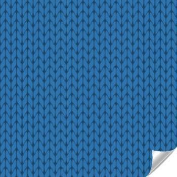 Naklejka - Z dzianiny niebieski tło wzór wektor, na białym tle