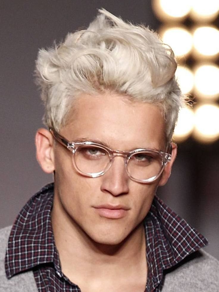 Platinum blonde male model