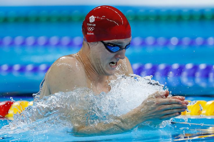Andrew Willis of Great Britain in the second Semifinal of the Men's 200m Breaststroke on Day 4 of the Rio 2016 Olympic Games at the Olympic Aquatics Stadium on August 9, 2016 in Rio de Janeiro, Brazil.