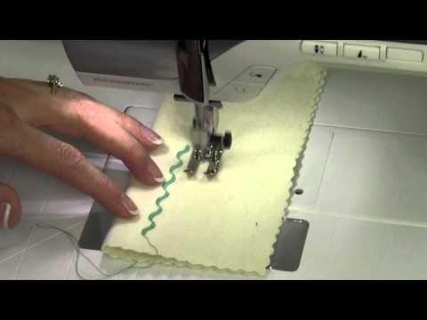 ▶ Bernina 350 22 Sewing Decorative Stitches - YouTube