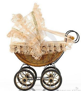 Vintage Baby Stroller! #babyshower #vintage #stroller