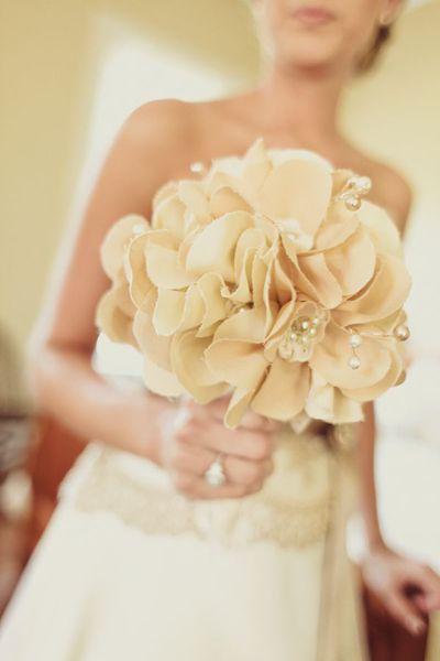 Wedding Flowers South Devon : Ideas about fabric flower bouquets on