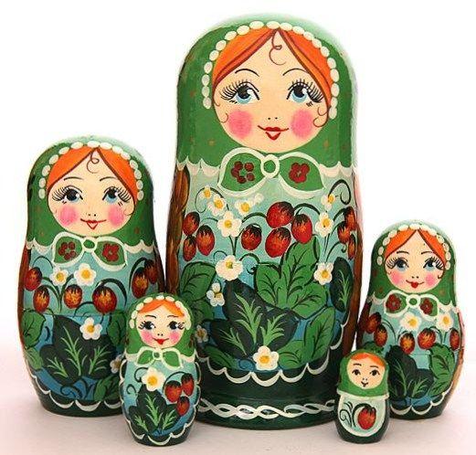 A set of Matryoshkas - Russian nesting dolls. #Russian #folk #art #matryoshka